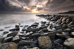 Kimmeridge, Clavell's Pier (peterspencer49) Tags: sunset seascape reflections dorset coastline seaview kimmeridge coastalpath westcountry jurassiccoast dorsetcoast southwestcoastalpath seascene 5dmkll peterspencer stunningseascape coastalledges