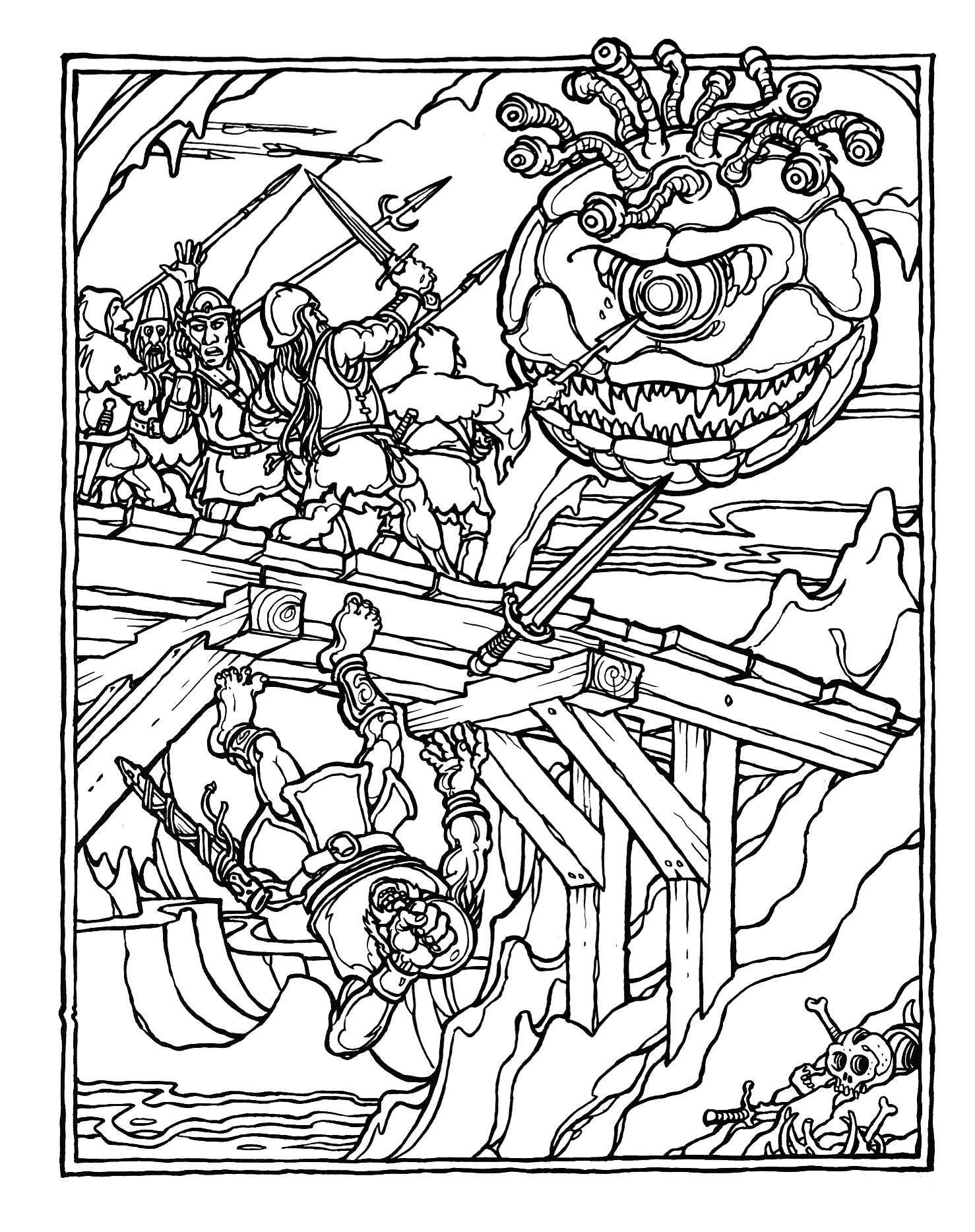 greg irons the official advanced dungeons and dragons coloring album the bridge in the - Dragon Coloring Books