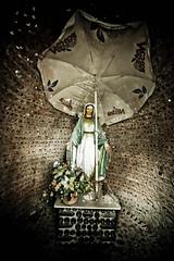 """""""Il tuo paradiso naturale"""" (Funky64 (www.lucarossato.com)) Tags: flowers church umbrella bottles maria madonna fiori cappella ant ombrellone blasfemia blasfemo facaldo bottigle lucarossato funky64 nesteailtuoparadisonaturale"""