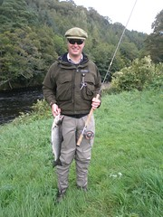 First fish from the river (thomvb) Tags: fishing salmon stinchar knockdolian