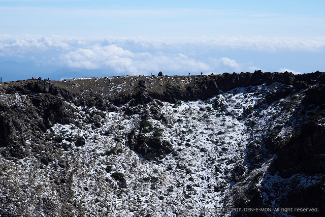 The ridge of Mt. Chokai at first snow day, 2011. #1