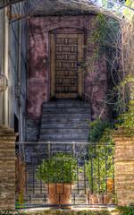la puerta (mlnilsson) Tags: door espaa stairs town spain puerta nikon gate village pueblo andalucia escalera granada andalusia hdr d3100
