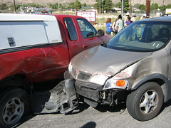 Accident! (Accretion Disc) Tags: car automobile crash accident wreck collision highway62 hwy62 twentyninepalmshighway 29palmshighway