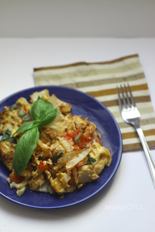 chinese cabbage omelet