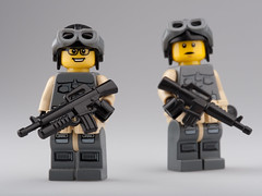 Jealousy... (~Ghost Soldier~) Tags: with d tube bap ba jd grenade launcher proto prototypes noob brickarms m16a1 toywiz