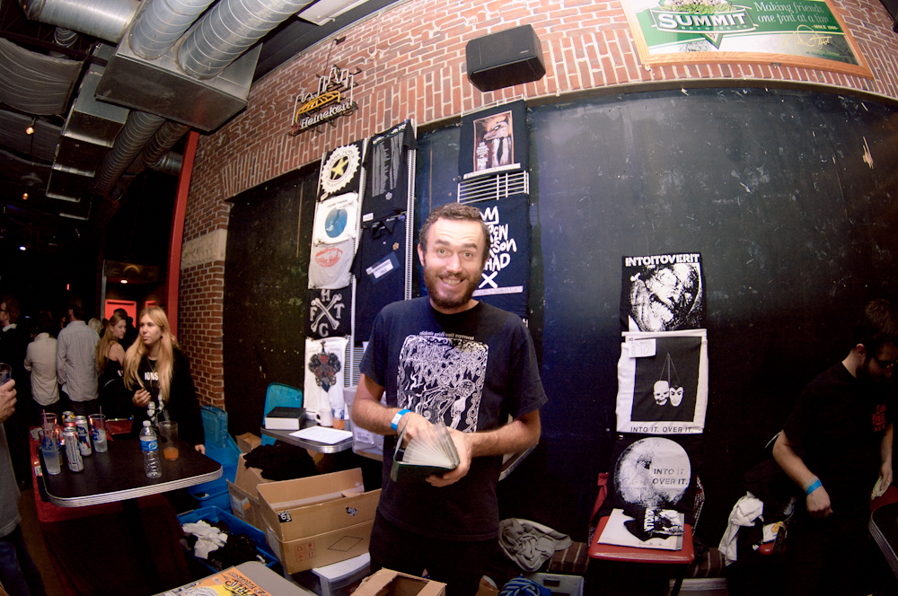 Ben at the merch table
