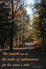 He Leadeth Me (listentothemountains) Tags: inspiration colour fall beautiful christ god path framed jesus bible inspirational lead verse encouragement kjv psalm23 encouraging psalm233