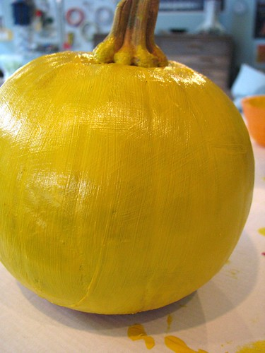 Pikachu Pumpkin - base coat