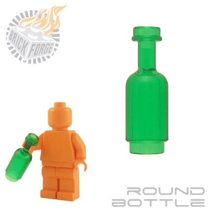 Round Bottle - Trans Green