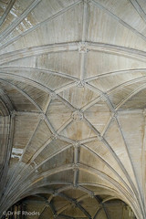 Vaulting at the junction of the retrochoir and aisle, vaulting, Winchester Cathedral (hilofoz) Tags: hampshire winchester unitedkindom