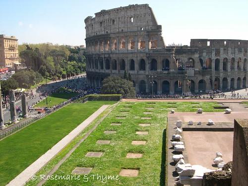 """DSCN7549 - """"vista del Colosseo da S. Francesca Romana"""