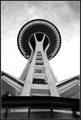 Space Needle (Black and White)