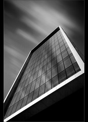 Angular...... (Chrisconphoto) Tags: longexposure bw architecture clouds movement le weldingglass