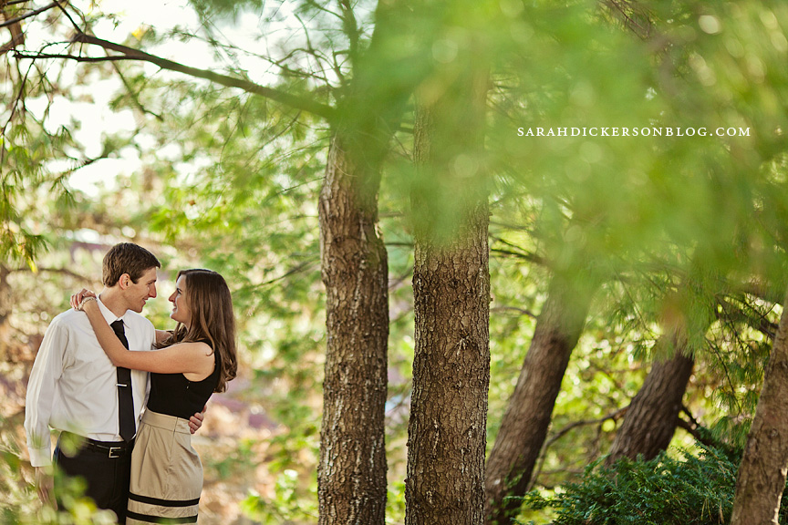 University of Kansas Lawrence engagement photography