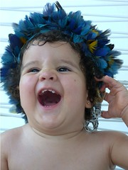my little indian (JC Patricio Photography) Tags: cute beautiful smiling laughing happy child linda jc beb beloved indigenous neta grandaughter patricio smilingface cocar mariaantonia cockade littlebaby paresi littleindian