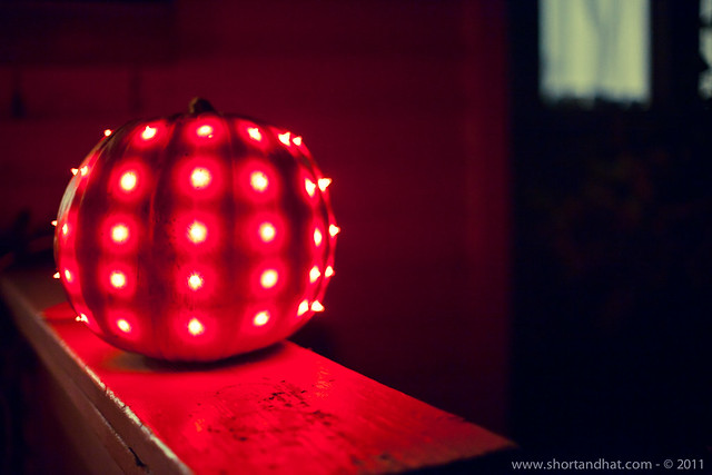 Christmas light pumpkin