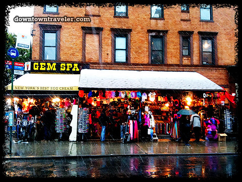 NYC Halloween Snow Storm 2011_Gem Spa on St Marks Place