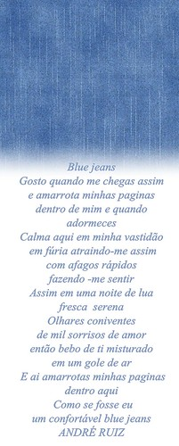 BLUE JEANS by amigos do poeta