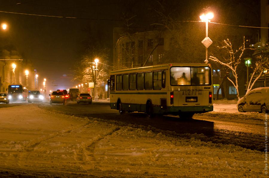Автобус везет домой