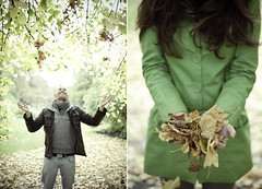 happy people (joannablu kitchener) Tags: autumn fall leaves happy 50mm scotland nikon edinburgh f14 botanicalgardens dylank d700 joannablu kitchenerphotography