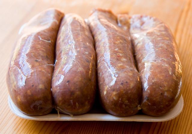 Pheasant sausage, Quattro's Game Farm
