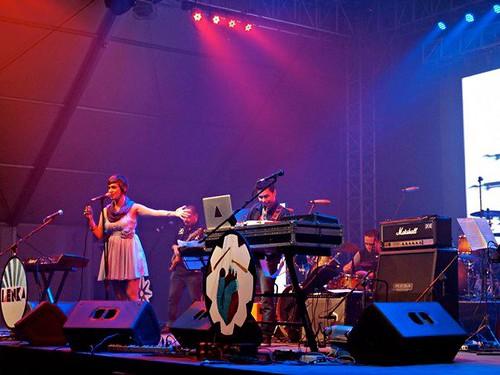 Tricia Garcia Live at Lenka Concert