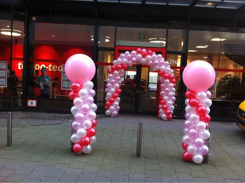 Ballonpilaar Breed Rond Tempo Team Weena Rotterdam