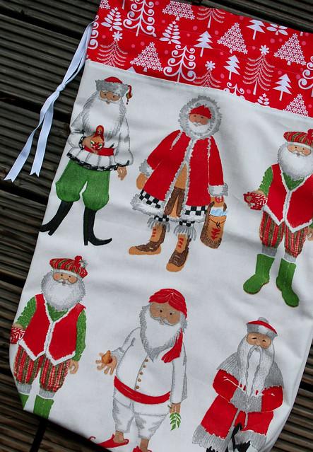 weihnachtsmänner laundry sack