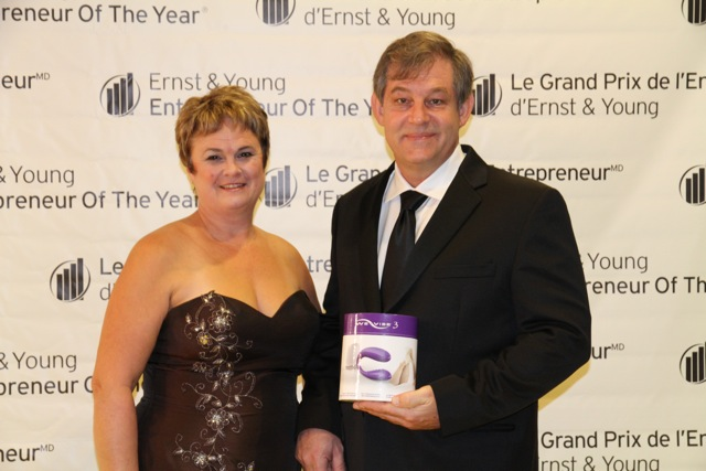 We-Vibe® creators and founders Melody and Bruce Murison on the red carpet at the Ernst & Young Entrepreneur of the Year Awards
