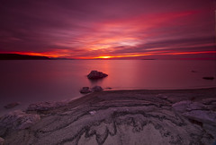 Reflection in Pink_DSC4737_E (antelope reflection) Tags: pink sunset reflection beach colors clouds sand antelopeisland utahstatepark nikond90