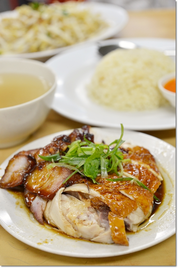 Chicken and Char Siew Rice