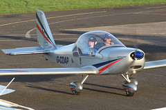 G-CDAP - taxiing in (egcc) Tags: manchester 912 eurostar barton microlight rotax cityairport ev97 2114 cosmik mainair aerotechnik egcb gcdap