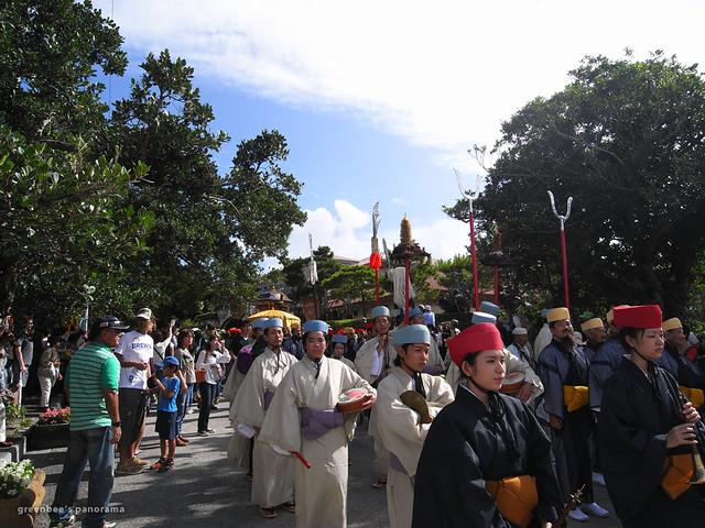 111103琉球王朝祭り首里「古式行列」(首里城祭の最終日)2