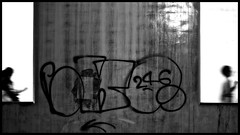 (MdKiStLeR) Tags: street urban bw motion blur japan photography graffiti tokyo movement asia candid shibuya hardcontrast mdkistler