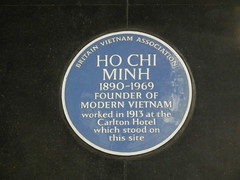 Photo of Ho Chi Minh blue plaque