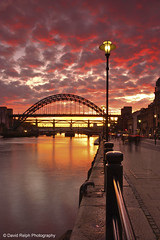 Quayside Sunset (David Relph) Tags: sunset water canon river newcastle tyne tynebridge newcastleupontyne rivertyne davidrelph