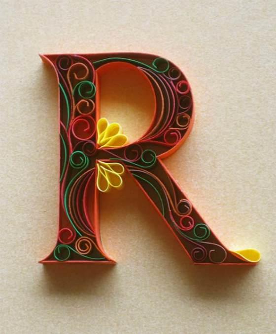 letras hechas con papel