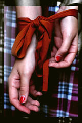 83/365 (Faye Sampson Photography) Tags: red hands fingers tie nails ribbon 365 tied wrists