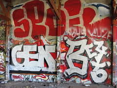 GED / BERG45 (Lurk Daily) Tags: graffiti bay north roller ged cv spoil berg45