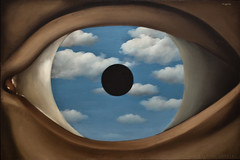 Ren Magritte - False Mirror (1928) (Stefano Corrias) Tags: new york nyc espelho mirror o rene magritte moma false stefano curio falso ren corrias