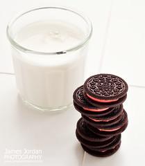 Peppermint Oreos (James Jordan) Tags: food glass cookies milk cookie stack oreo tabletop peppermint
