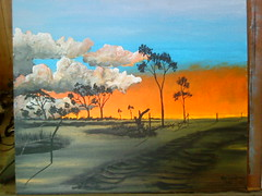 Rod Lucas, Acrylic Painting 4 (ABC Open North West Queensland) Tags: artist northwest paintings queensland gulfofcarpentaria karumba indigenousartist outbacklandscape rodlucas outbackartist
