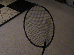 broken ball death sad rip badminton racket