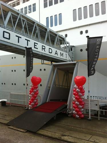 Ballonpilaar Breed Hart SS Rotterdam
