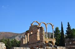 Anjar, Umayyad city, al-Walid I, 705-15, along the decumanus maximus (18) (Prof. Mortel) Tags: lebanon umayyad anjar