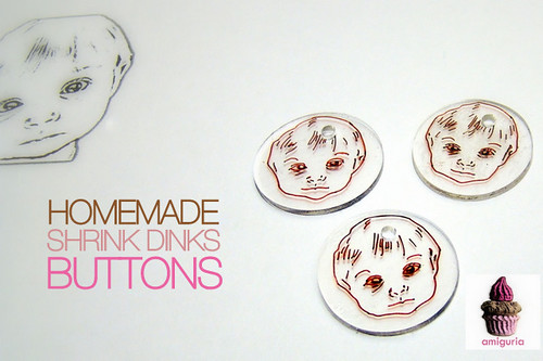 Homemade Buttons!  by Amiguria