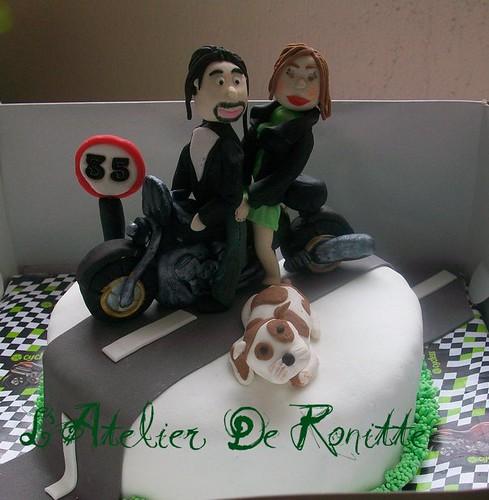 Motorsikletli 35 Yaş Pastası by l'atelier de ronitte