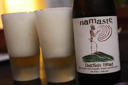 Dogfish Head Namaste (Lots of Head)
