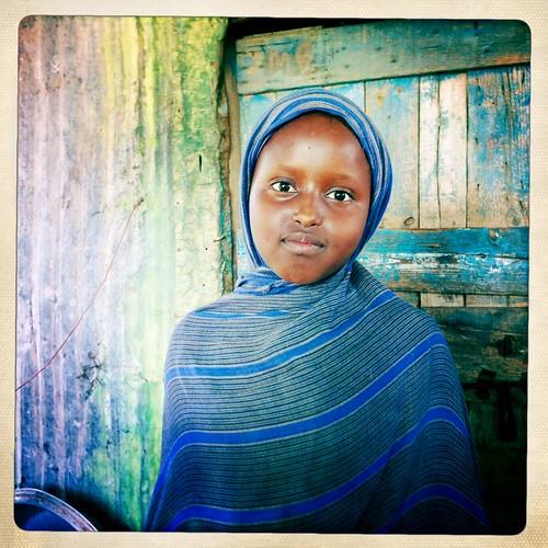 Somaliland girl  thru Iphone Hipstamatic