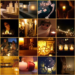 FF#13 CANDLE LIGHT (JennyTheArtist) Tags: collage dark square fire notmine fdsflickrtoys mood glow candle mosaic candlelight notmyphotos followfriday